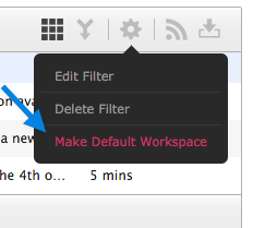make default workspace