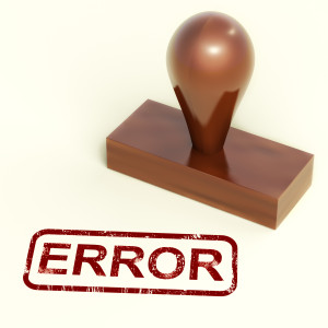 Error Stamp Showing Mistake Fault Or Defects